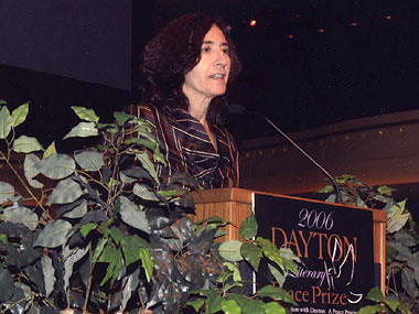 Francine Prose accepting the Fiction Award for A Changed Man