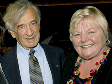 Professor Elie Wiesel with Julia Bergman, Chair of the Board of the Central Asia Institute. Julia represented Greg Mortenson and David Relin, authors of Three Cups of Tea.